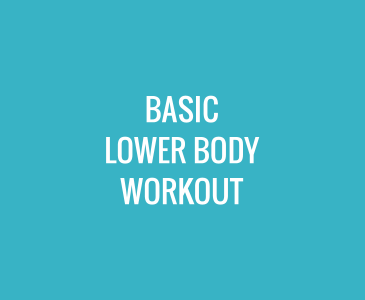 Basic Lower Body Workout