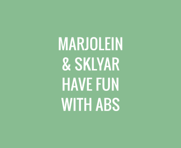 Marjolein and Skylar Have Fun with Abs